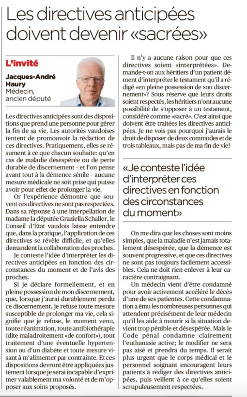 Article 24 Heures - 31.10.19